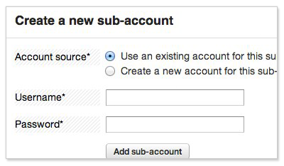 Create-sub-account